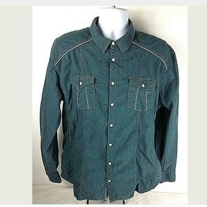 BKE Buckle Men's XL Pearl Snap Relaxed Fit Shirt